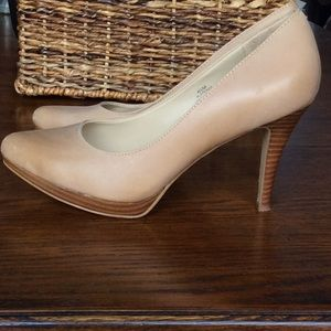 Nine West Plateauo Nude Matte Leather